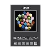 Black Pastel Pads 100% Recycled Paper, A4 140gsm 25 Sheets