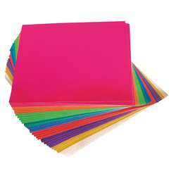 Adhesive Paper Squares Assorted Metallic Colours 15 x 15cm 100 Sheets