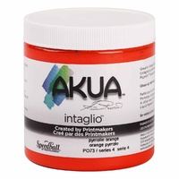 Akua Waterbased Intaglio Inks 237ml  Pyrolle Orange
