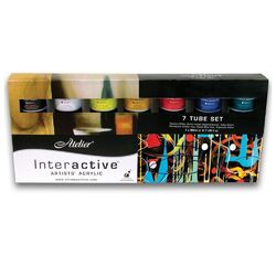 Atelier Interactive Artists Acrylics set of 7 x 80ml Tubes