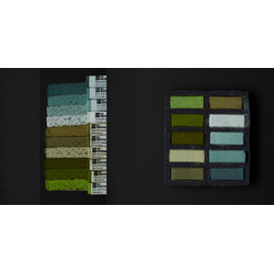 AS Extra Soft Square Pastel Set of 10 - Greens