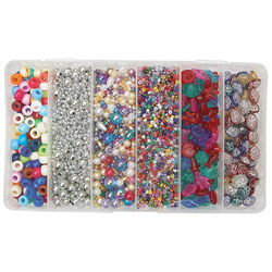 Zart Bead Box 300g of 6 Differnt Designs Assorted Sizes and Colours