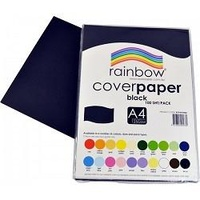 Cover Paper 125gsm A4 Black 250 Sheets