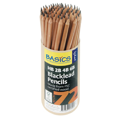 Blacklead Pencils HB, 2B, 4B 6B set of 72 - 18 of each