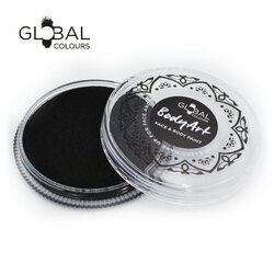 Global BodyArt Cake Face Paint Black 32g