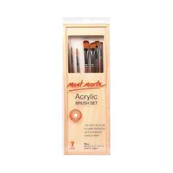 Mont Marte Acrylic Brush Set in Box 7 Pices
