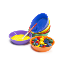 Coloured Plastic Bowl Set of 6
