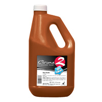 Chroma 2 School Super Tempera Paint - 2L Red Oxide