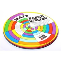 Matte Paper Circles 120mm 100 Assorted Sheets per pack