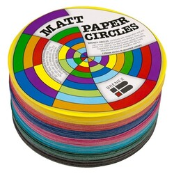 Matte Paper Circles 120mm 500 Assorted Sheets per pack