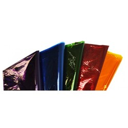 Cellophane 75 x 100cm PK of 25 Assorted Colours