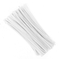 Pipe Cleaners / Chenille Sticks White 100 Pack