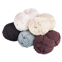 Acrylic Wool Yarn Assorted Classic Neutral Colours Set of 5