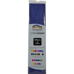 Crepe paper 250 x 50cm Single Sheet Dark Blue