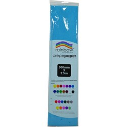 Crepe paper 250 x 50cm Single Sheet Light Blue