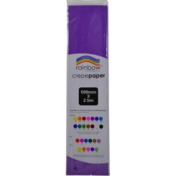 Crepe paper 250 x 50cm Single Sheet Purple