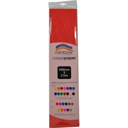 Crepe paper 250 x 50cm Single Sheet Red