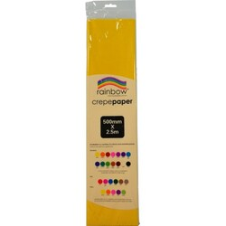 Crepe paper 250 x 50cm Single Sheet Yellow