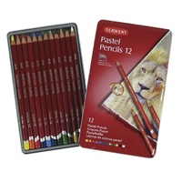 Derwent Pastel Pencils 12 Set - Assorted Colours