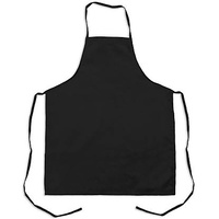 Adult Apron Drill material heavy duty. BLACK