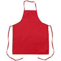Adult Apron Drill material heavy duty. MAROON