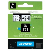 DYMO D1 Label Replacement Tape 9mm x 7m Black on White
