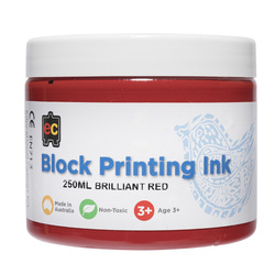 EC Block Ink Water based 250ml - Red