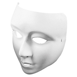 Zart Plastic Theater Face Masks White Pack of 10