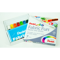 Pentel Arts Fabric Fun Pastel Dye Sticks Set of 7
