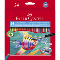 Faber-Castell Red Range Watercolour Pencils Set of 48