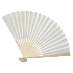 Japanese Paper & Bamboo Folding Fan 22cm pack of 10