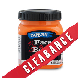 25% OFF-Derivan Face & Body Paint 250ml Fluoro Orange