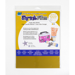 Grafix Shrink Film A4 Gold & Silver