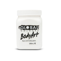 Global Face & Body Paint Bodyart 200ml White