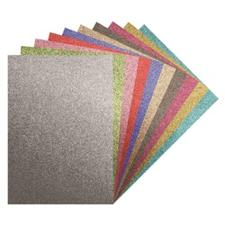 Glitter Iron-on Sheets Assorted Colours A4 10 Sheets