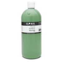 Global Colours Acrylic Paint Green Oxide 1 litre