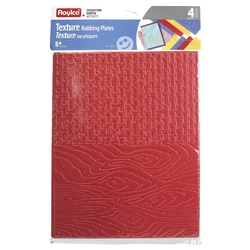 Zart Textured Rubbing Plates Pack of 8 Designs