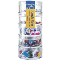 Stackable Googly Eyes Assorted Coloured and Sizes 450 Pieces