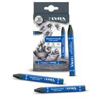 Lyra Graphite Water-soluble Crayons Pack of 12 6B