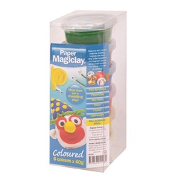 Magiclay 240g - Primary Colours 6 x 40g Air Dry Paper Clay