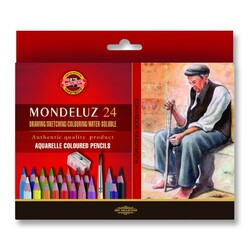 Koh-i-noor Mondeluz Aquarelle Watercolour Pencils Box of 24