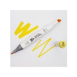 Premium Dual Tip Art Marker - Lemon Yellow 35