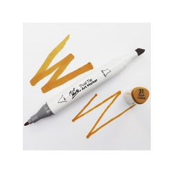 Premium Dual Tip Art Marker - Dark yellow 31