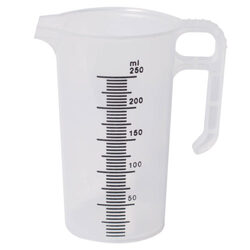 Clear Plastic Graduated Measuring Jug 250ml