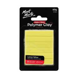 OUT OF STOCK - Make n Bake Polymer Clay 60g - Lemon Yellow