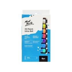 Mont Marte Oil Colour Intro Paint Set 8 x 18ml tubes