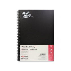 Mont Marte Signature Visual Art Diary 110gsm A3 120 Page