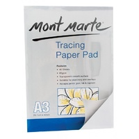 Mont Marte Tracing Paper Pad 60gsm A3 40 Sheet