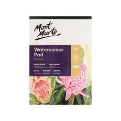 Mont Marte Watercolour Pad German Paper 300gsm A4 12 Sheet