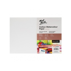 Premium Cotton Watercolour Paper 300gsm A4 (16.5 x 11.7in) 5 Sheets